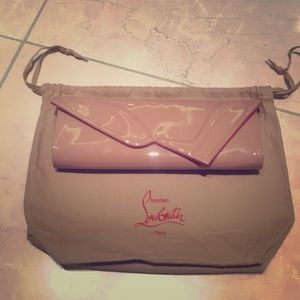 Christian Louboutin So Kate Nude Clutch